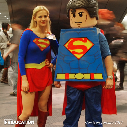 Sexy Super Woman  and Lego Superman