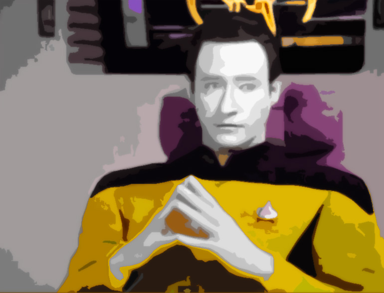 Tribute to Data, from Star Trek The Next Generation (TNG)