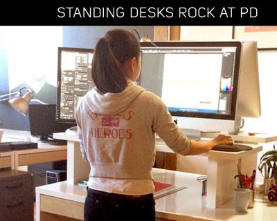 PD co-working space offers Standing Desk option