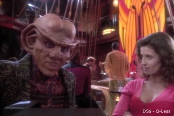 Quark and Vash negotiating - Q-Less